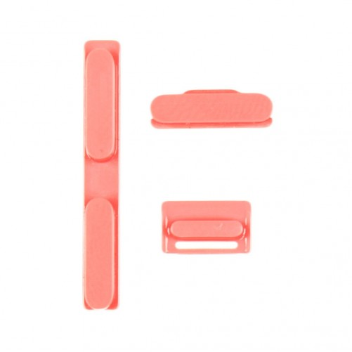 Kit de botones: Poder, Silencio, Volumen - iPhone 5 Pink