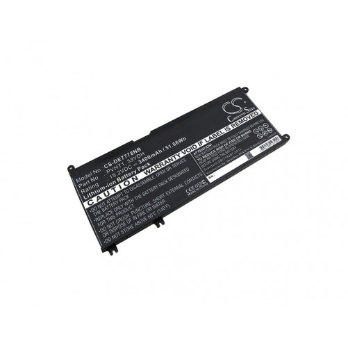 Batterie DELL 3400mAh / 51.68Wh 15,2V compatible DNCWSCB6106B, I7778-0026GRY, Inspiron 17 7000, Inspiron 17 7778, Inspiron 77