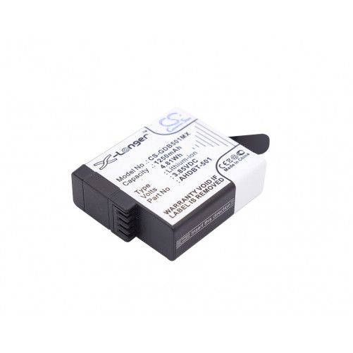 Batterie caméras, appareils photos GoPro 1250mAh / 4.81Wh 3,85V compatible 601-10197-00, AABAT-001, AABAT-001-AS, ASST1, CHDH