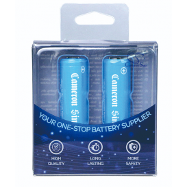 Lot de 2 piles rechargeables (Type 18650 / 2600 mAh)