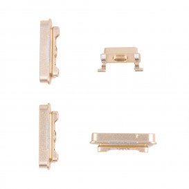 Set of 4 gold buttons (Volume, vibrate ring switch, power) - iPhone 6 Plus