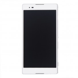 Complete Screen Assembly WHITE (LCD + touchscreen + Frame) - Xperia T2 Ultra
