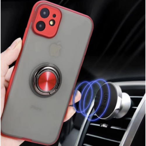 TPU shell with magnetic ring - iPhone 6