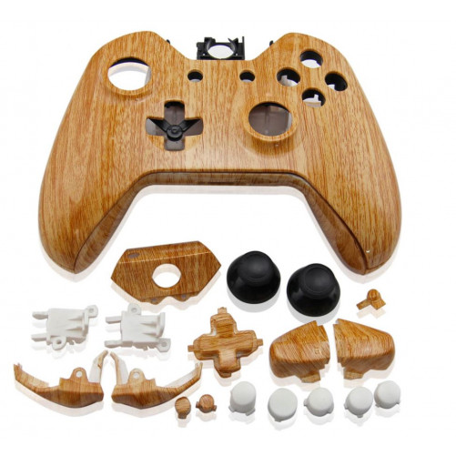 Coque manette Xbox One Look Bois + boutons