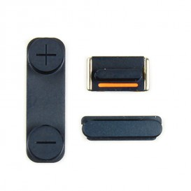 Lot de 3 Boutons : Power, Silencieux, Volume - iPhone 5 Noir