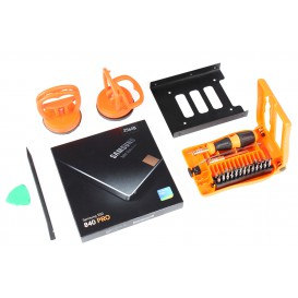 Kit SSD (SSD 256 Go Samsung + adaptateur + ventouses/outils) - iMac