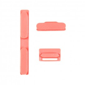 Kit of 3 Buttons PINK (volume, mute, power) - iPhone 5C