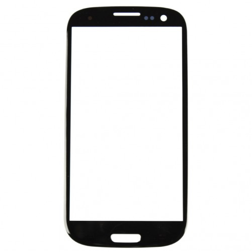 Vitre tactile Noir + Stickers - Samsung Galaxy S3