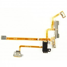 Power, volume buttons + vibrate ring switch + Jack plug flex cable - iPhone