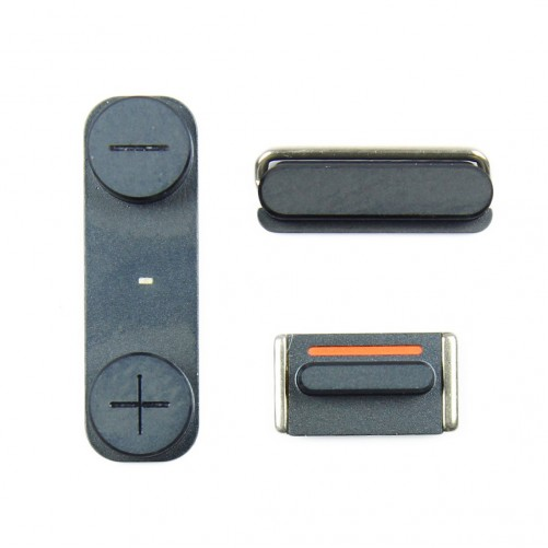 BLACK button kit (Power, Silencer, Volume) - iPhone 5S