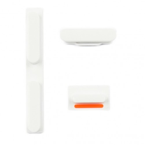 Kit Boutons : Power, Silencieux, Volume - iPhone 5 BLANC