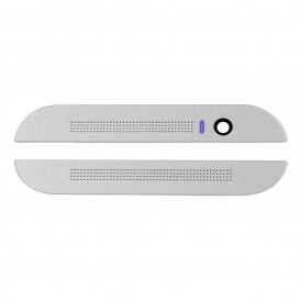 Top and bottom front plastic housing (white) - HTC One M8