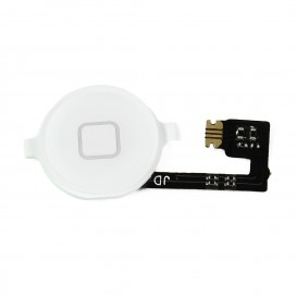 White Home Button + cable - iPhone 4