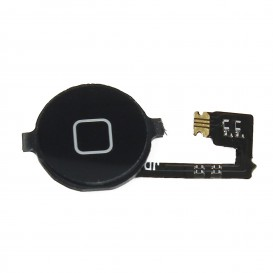 Black Home Button + cable - iPhone 4