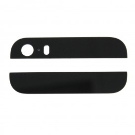 Top and bottom back housing glass (black) - iPhone 5S