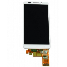 Complete Screen Assembly WHITE (LCD + touchscreen) - Droid Mini