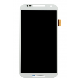 Complete Screen Assembly WHITE (LCD + touchscreen) - Moto X+1