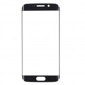 Front Glass Panel (black) - Galaxy S6 Edge