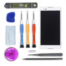 DIY Complete WHITE Screen Repair Kit (LCD + Touch screen + Frame) - Xperia T2 Ultra