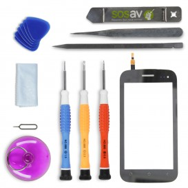 DIY Touch Screen Repair Kit (black) - Wiko Cink King