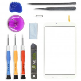 DIY Touch Screen Repair Kit (white) - Galaxy Tab 3 8""""