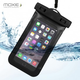 "Black Moxie Waterproof Case (5.5"""") - iPhone 6+/6S+/Note2/3/4/S6 Edge/S7 Edge"
