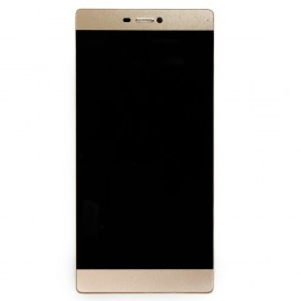 Complete Screen Assembly GOLD (LCD + Touchscreen + Frame) - Huawei P8