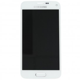 Ecran complet BLANC (LCD + Tactile + Châssis) (Officiel) - Galaxy S5 Mini